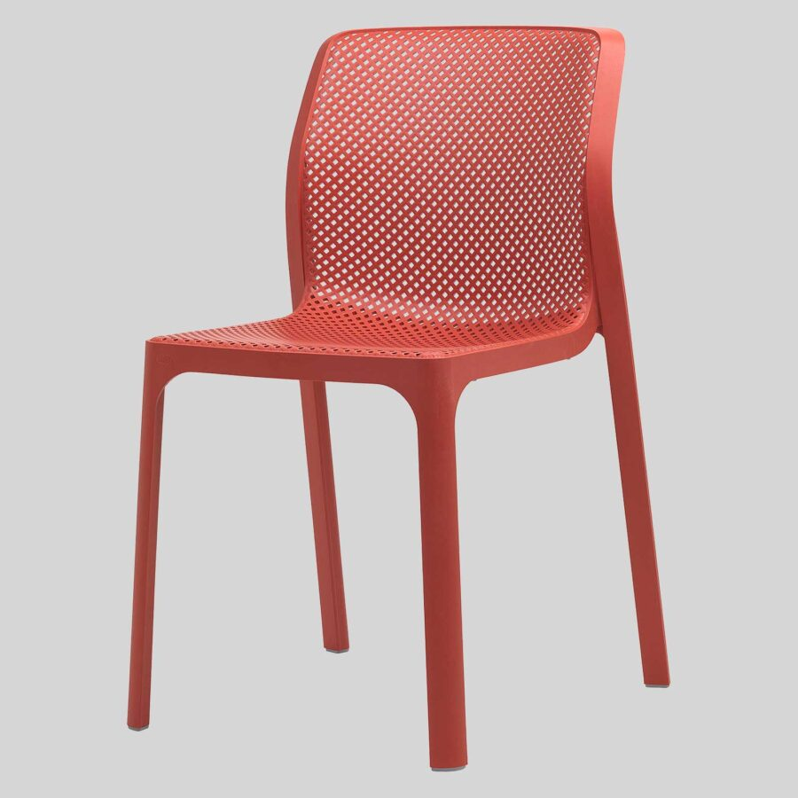 Mette Plastic Cafe Chairs - Red
