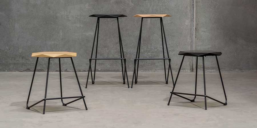 Weston Bar Stool and Low Stool
