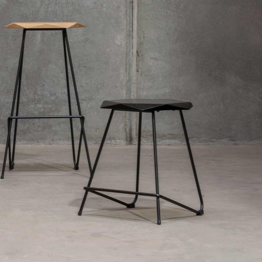 Weston Low Stool - Black Seat
