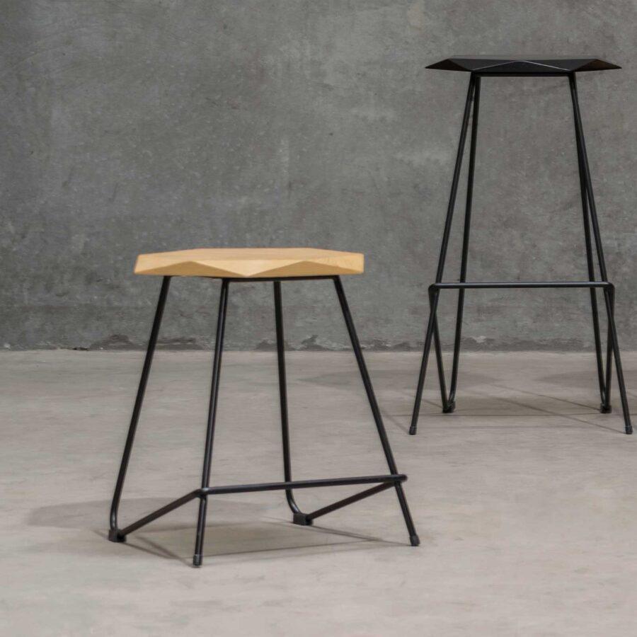 Weston Low Stool - Natural Seat