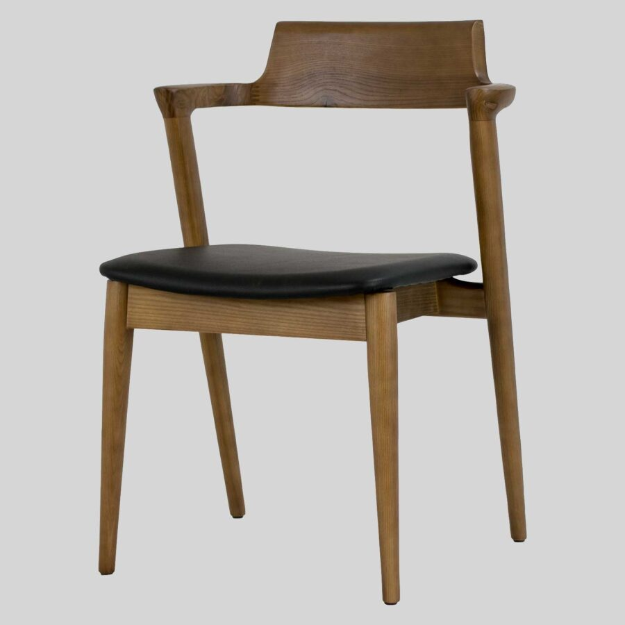 Kingston Side Chair - Walnut Stain, mid-century designer looks