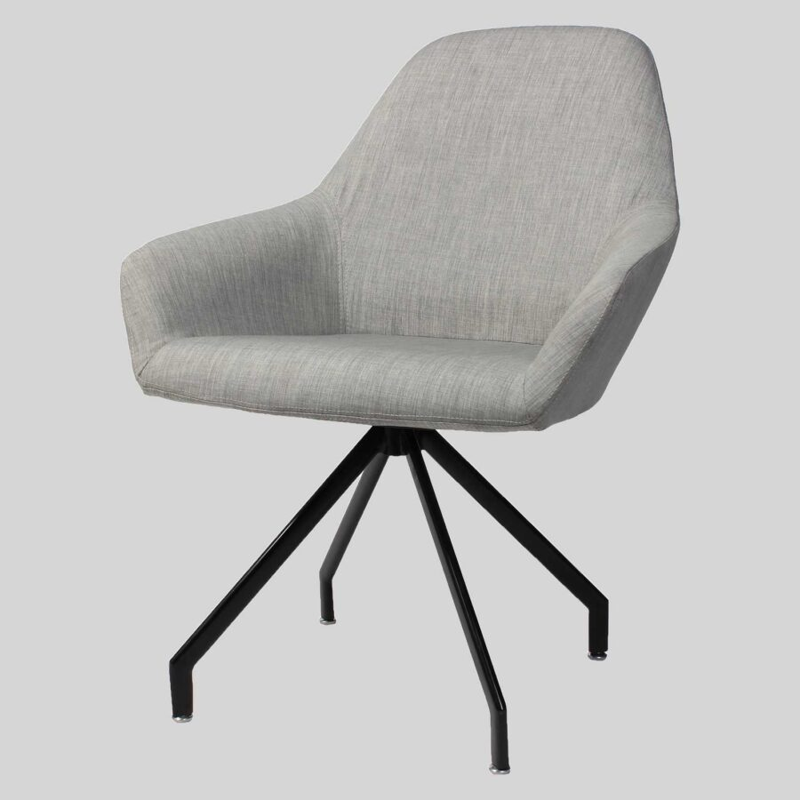 Monte Tub Chair - Grey, 4-leg Trestle // Black