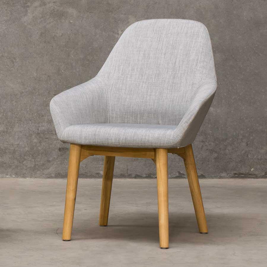 Monte Tub Chair - Grey, 4-leg Timber // Natural