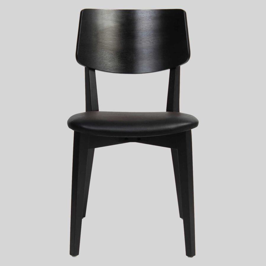 Vinnix Chair - Black - Black PU Seat