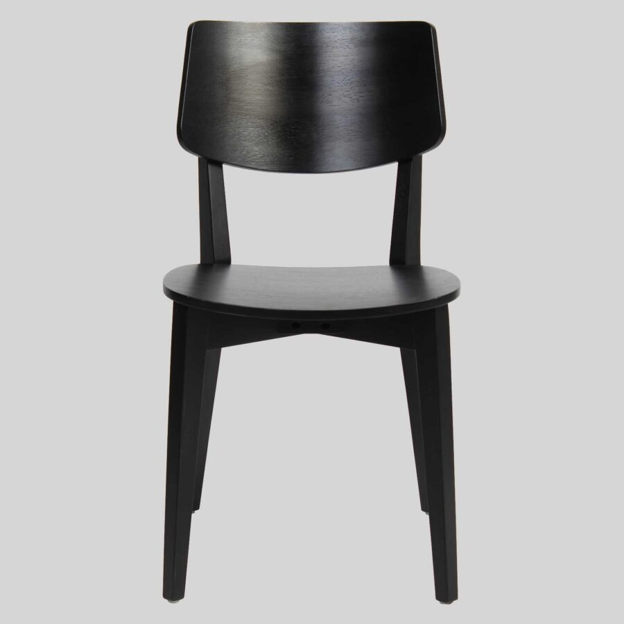 Vinnix Chair - Black - Timber Seat