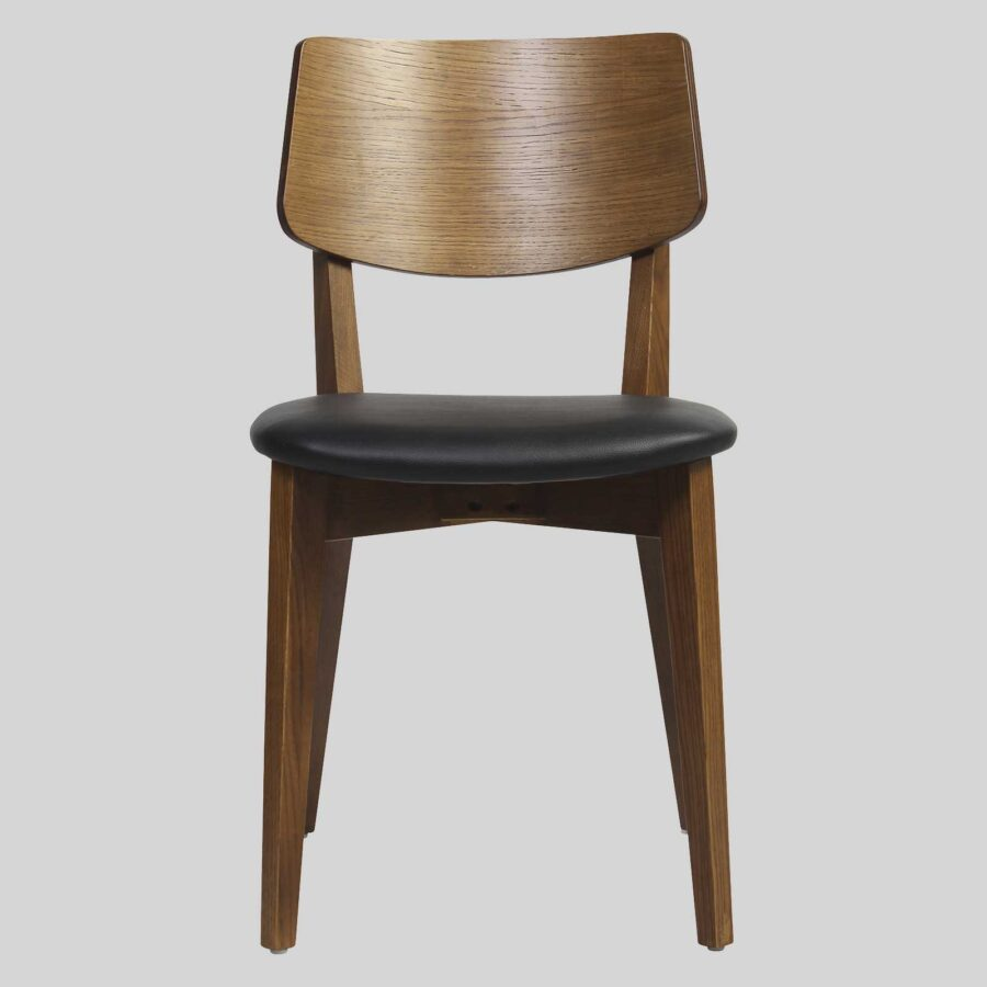 Vinnix Chair - Light Walnut - Black PU Seat