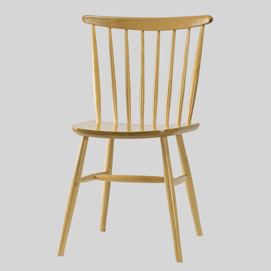 Spoke Back Timber Chair - Natural