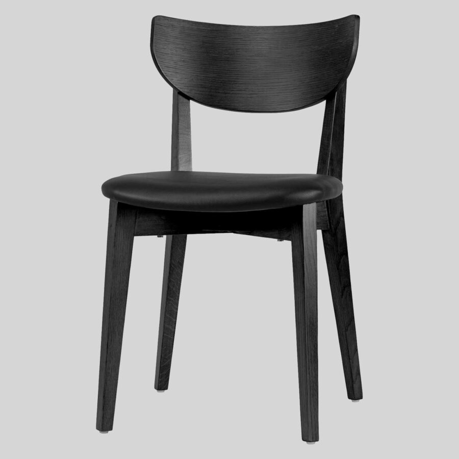 Romano Chair - Black, Black PU Seat