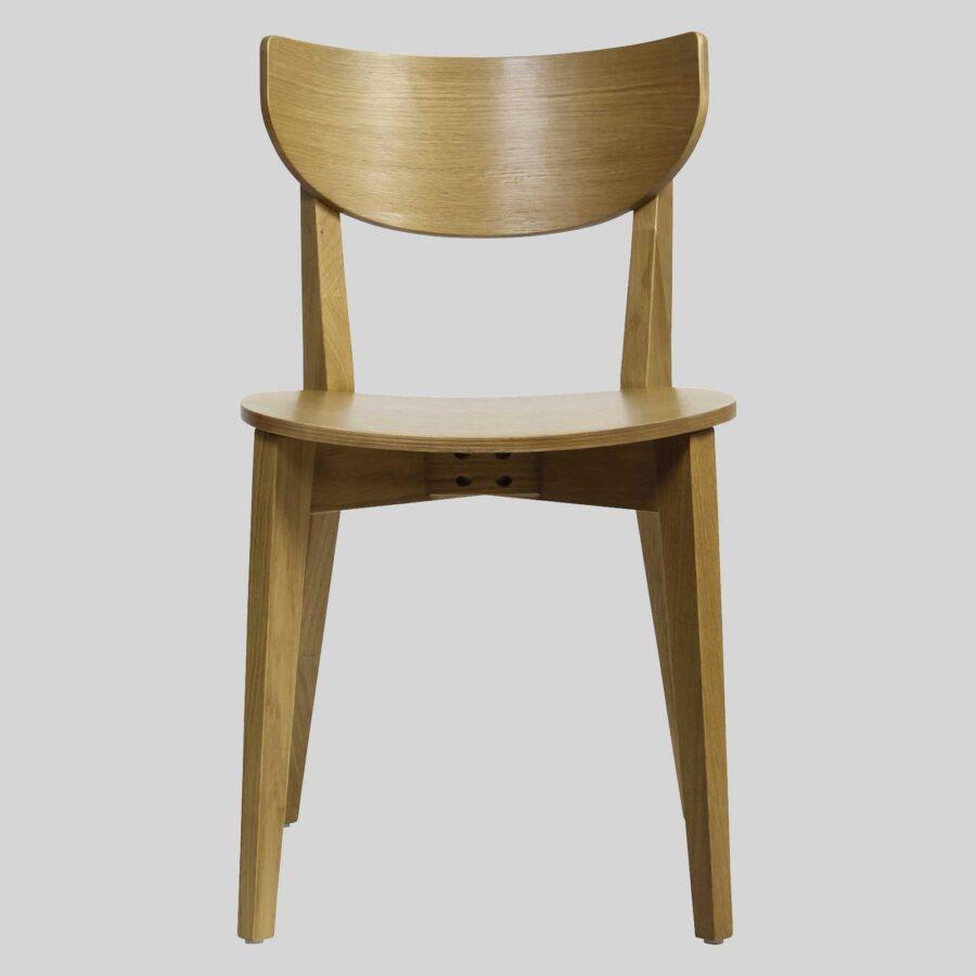 Romano Chair - Light Oak, Timber Seat