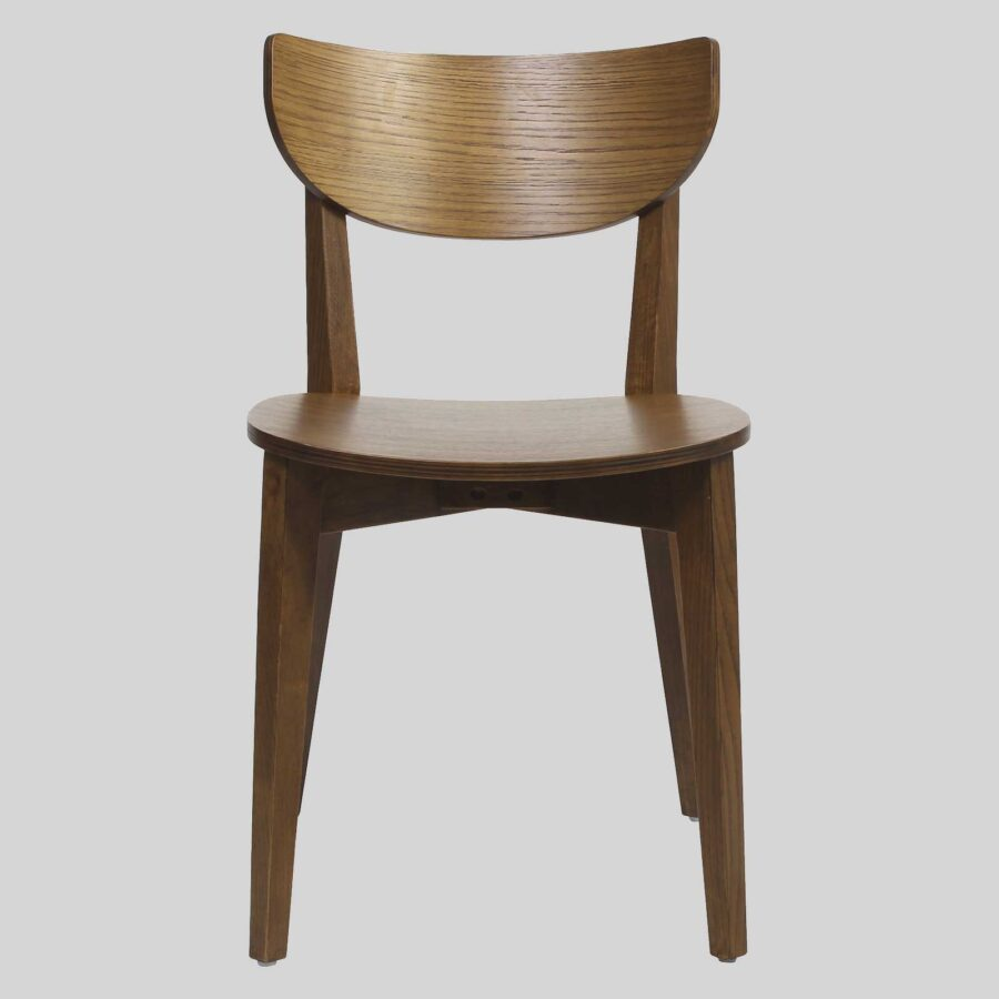 Romano Chair - Light Walnut, Timber Seat