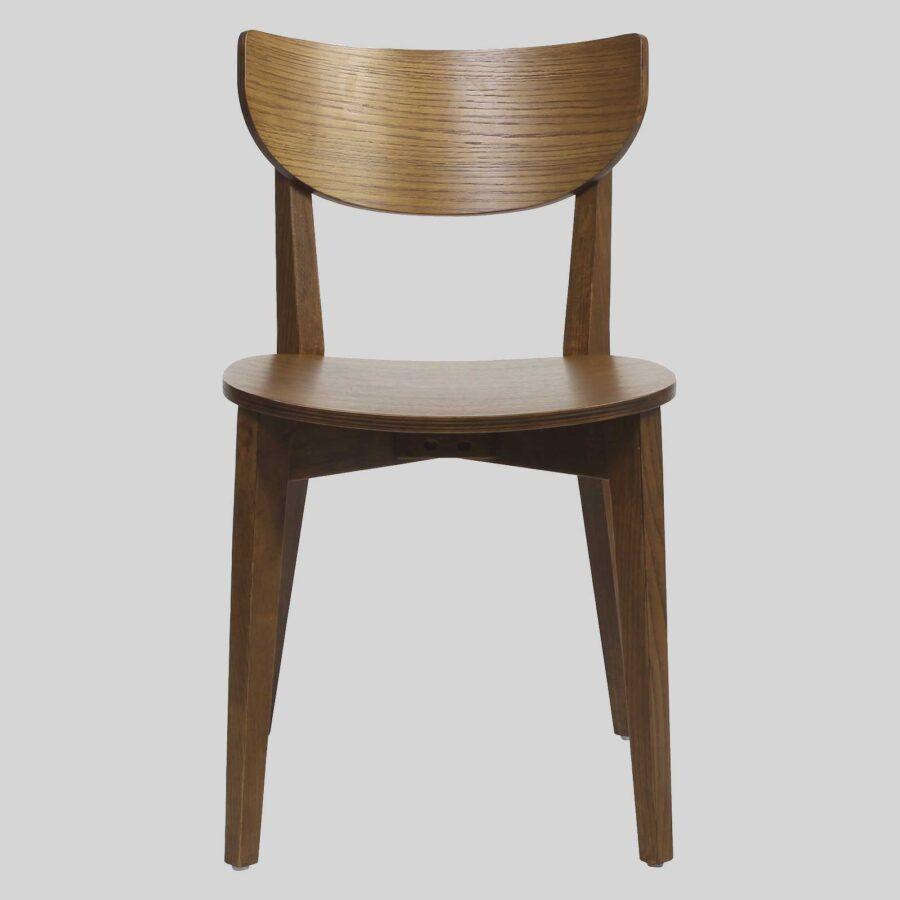 Romano Chair - Light Walnut, Timber Seat