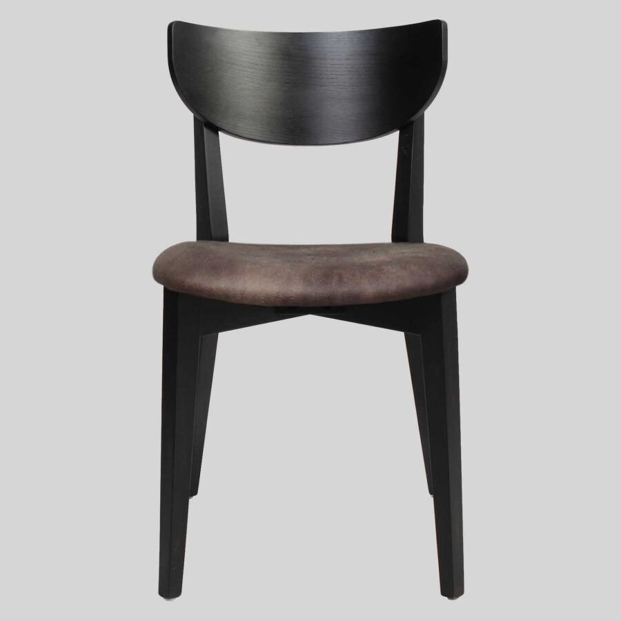 Romano Side Chair - Black with Eastwood Donkey Seat