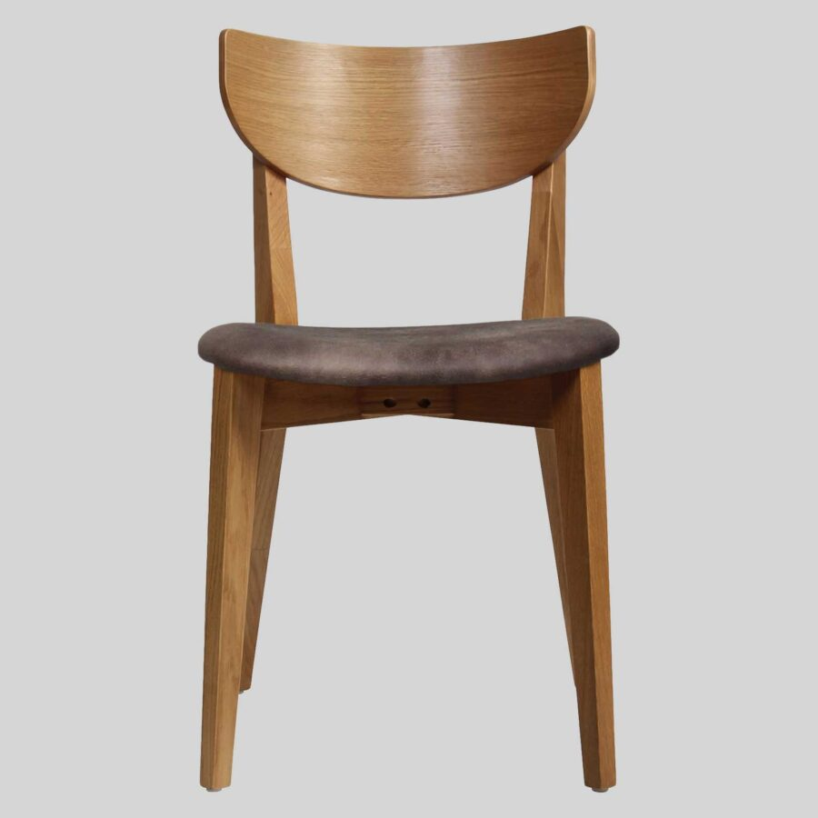 Romano Side Chair Light Oak with Eastwood Donkey Seat