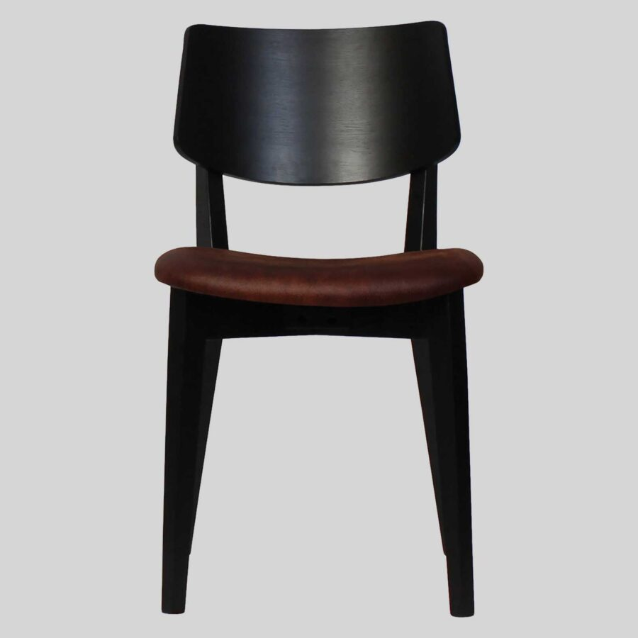 Vinnix Side Chair - Black with Eastwood Bison Seat