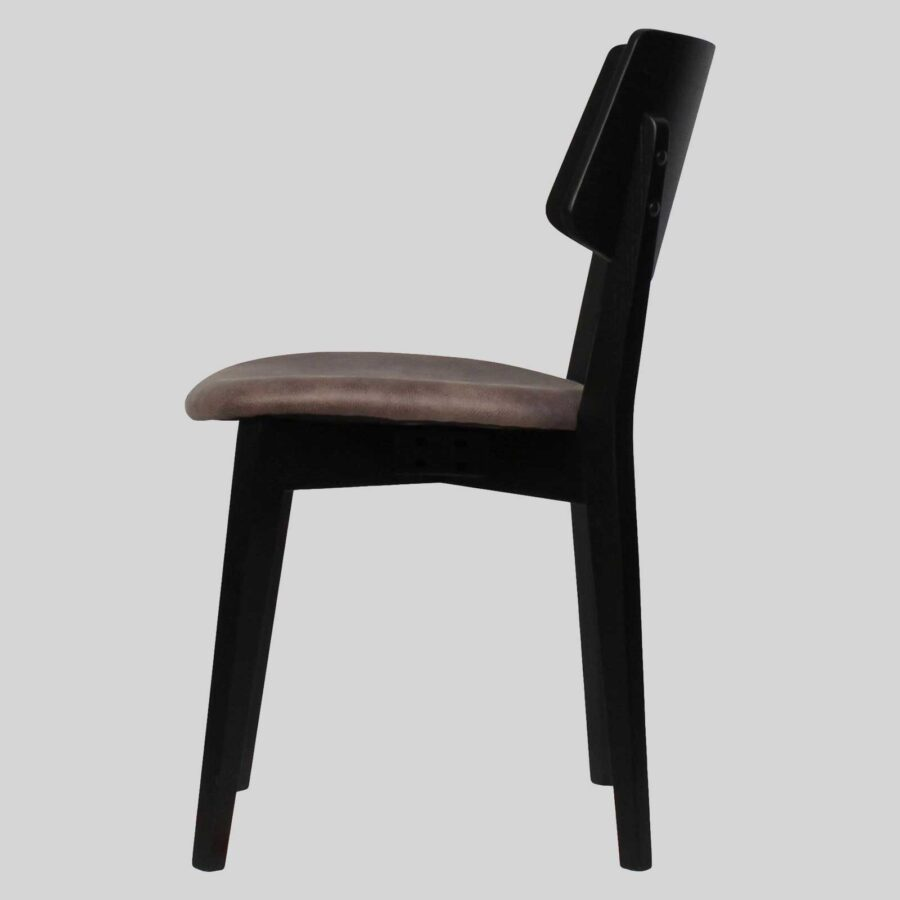Vinnix Side Chair - Black with Eastwood Donkey Seat