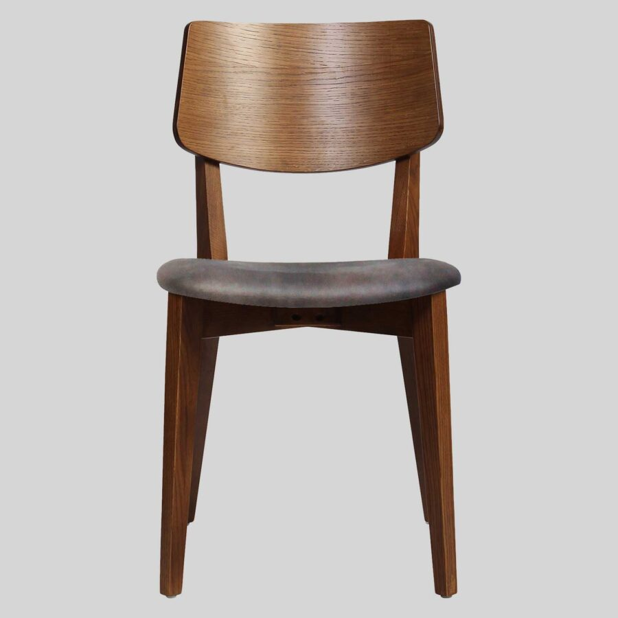 Vinnix Side Chair - Walnut with Eastwood Donkey Seat