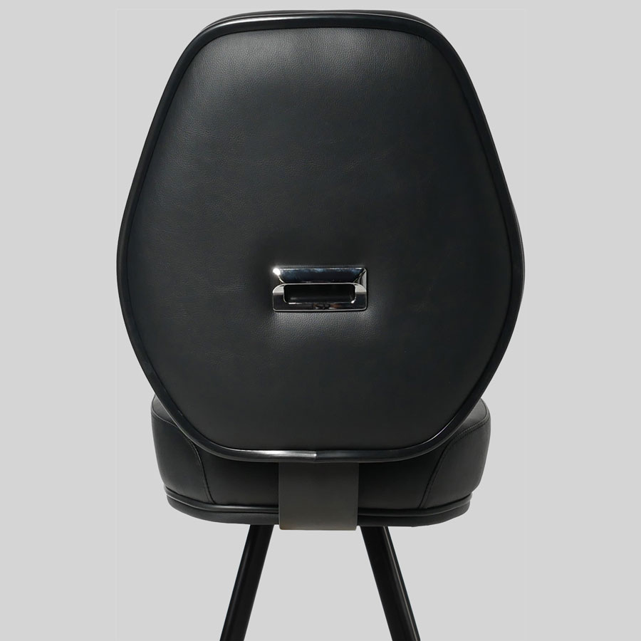 Diamond Black 4-Leg Gaming Stool