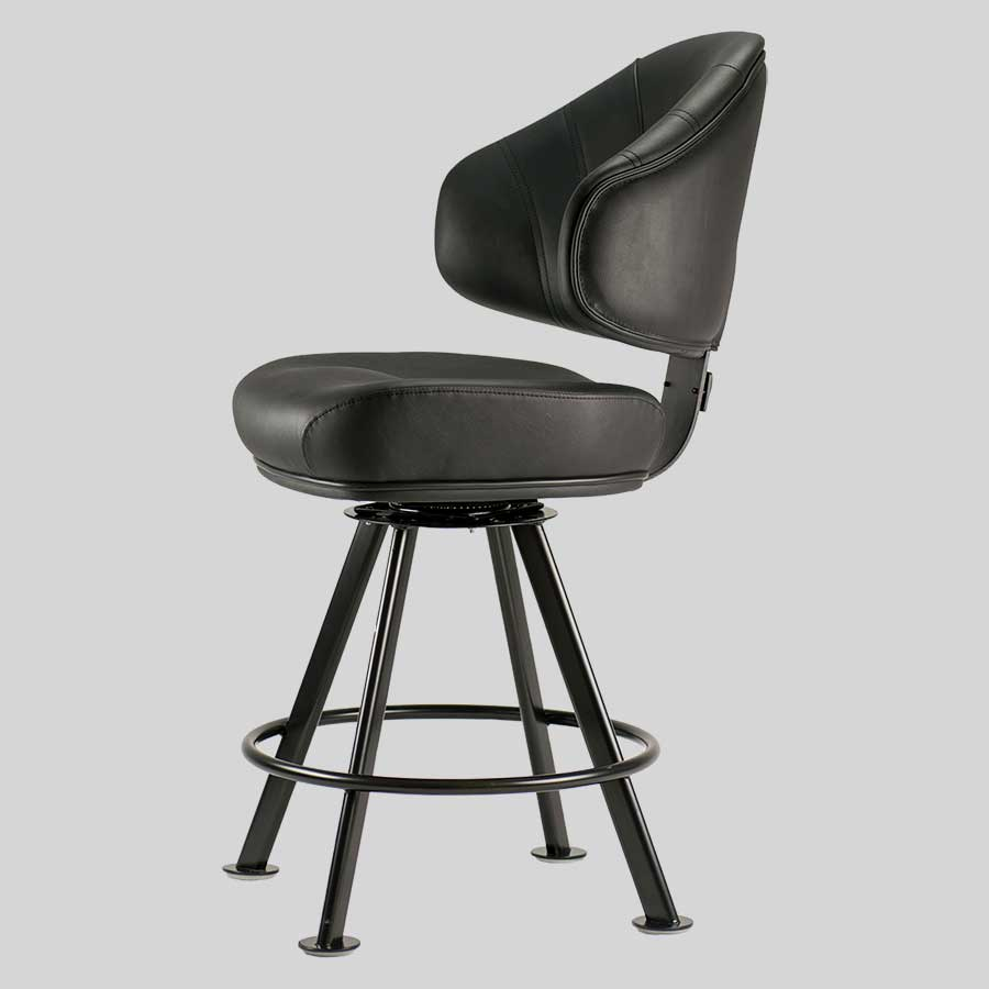Stirling Black 4-Leg Gaming Stool