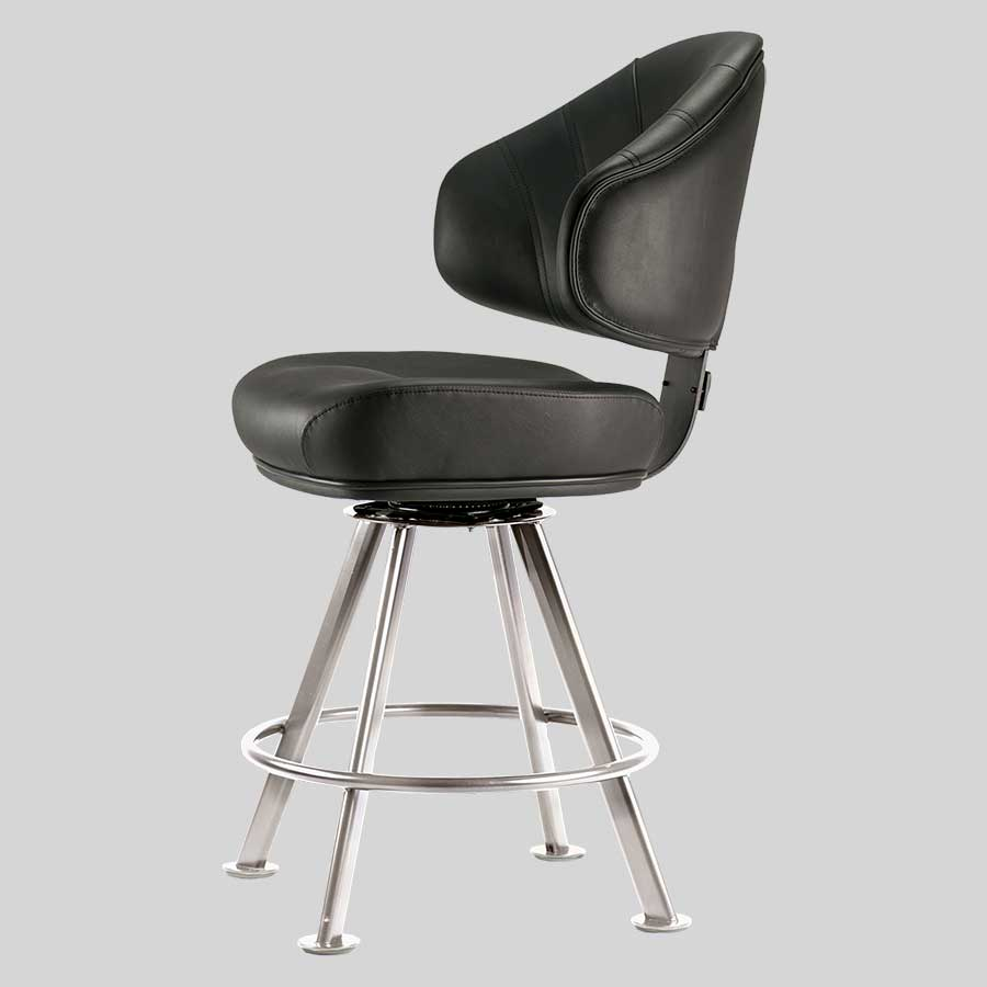 Stirling Chrome  4-Leg Gaming Stool