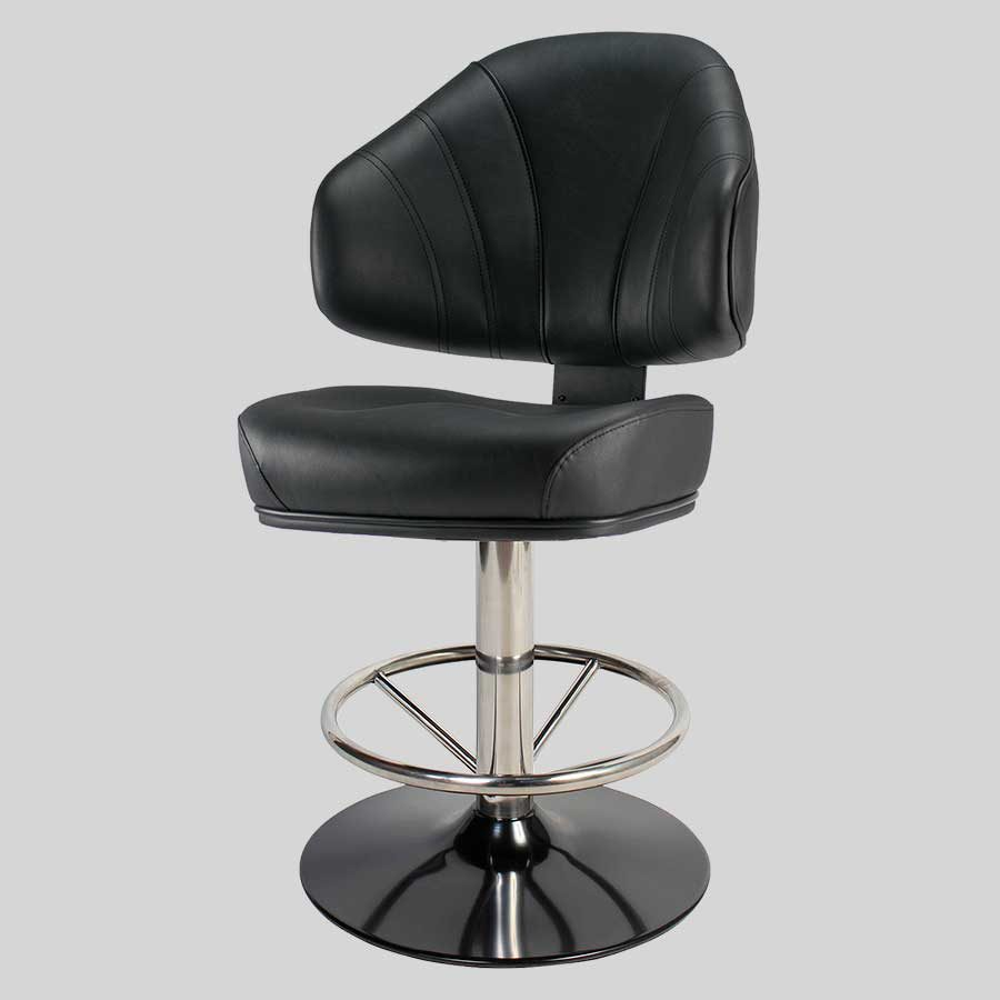 Stirling Gaming Stool - Black Seat, Disc Base