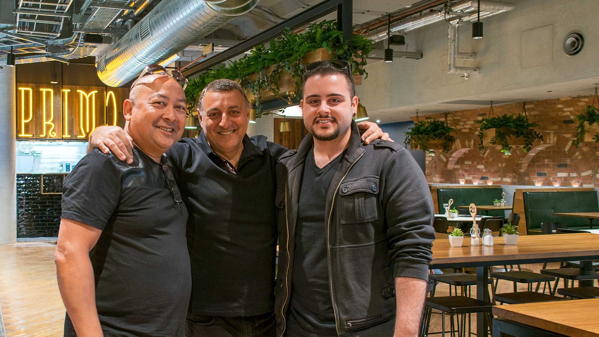 Harold (Concept Collections), Dino (Caffe Primo), and Ilario (Concept Collections) - Caffe Primo Modbury