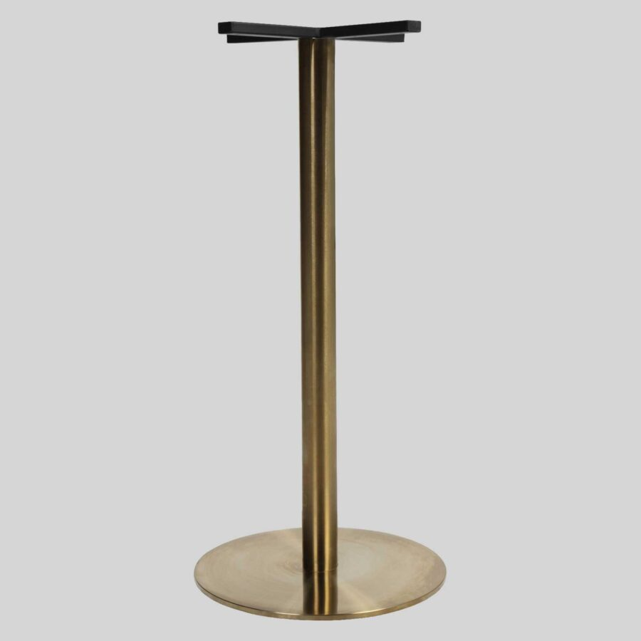 Carlita Bar Table Base - Brass