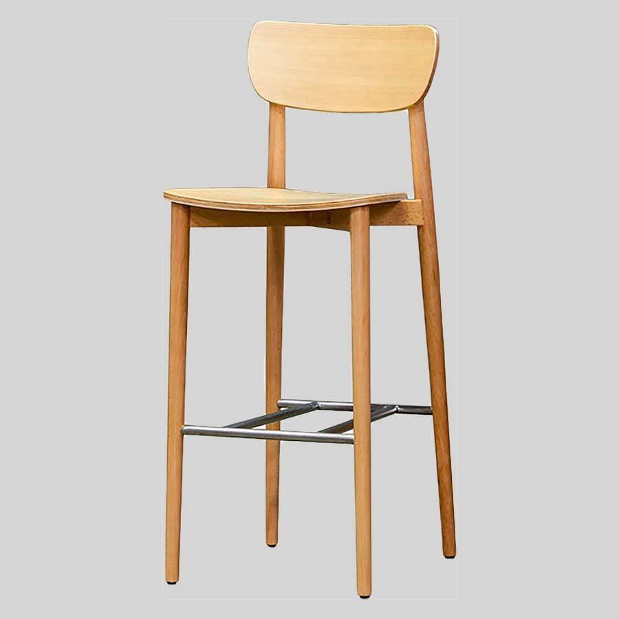 Stockholm Bar Stool - Natural - Timber Seat