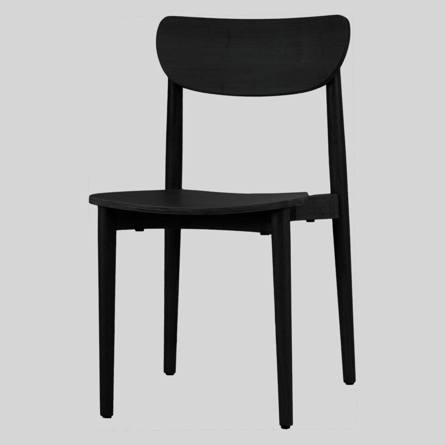 Stockholm Chair - Black - Timber Seat