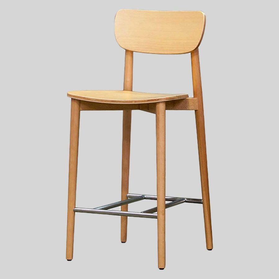 Stockholm Counter Stool - Natural - Timber Seat
