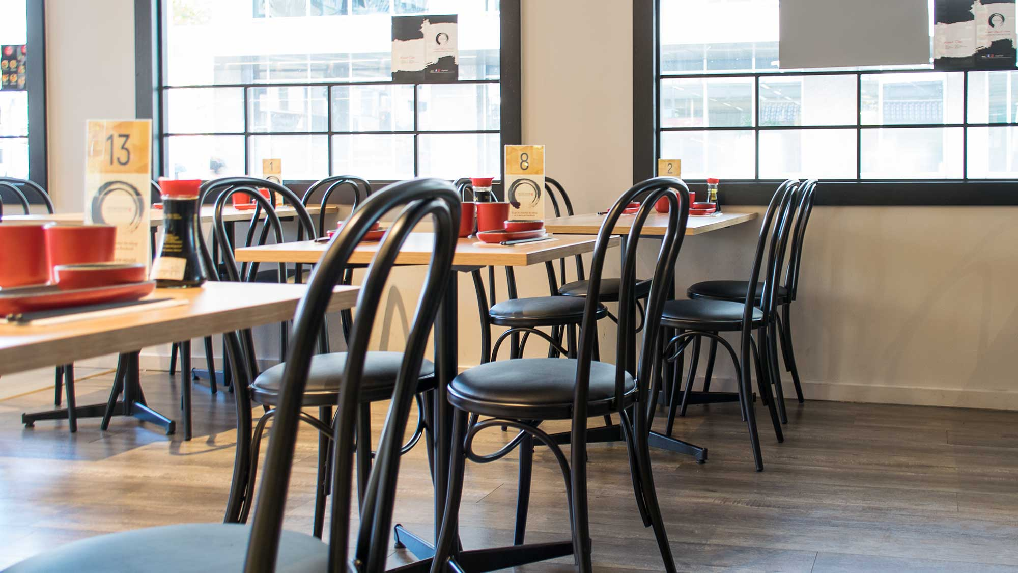 Mugen House - Black Bentwood Style Coleman Bistro Chairs