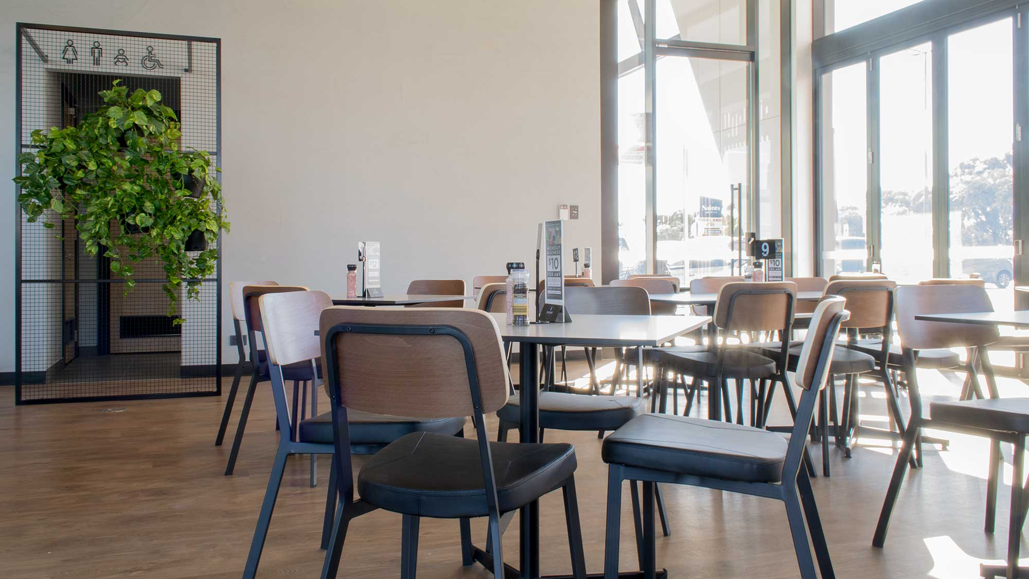 Caprice Chairs, Compact Laminate Table Tops and Davido Bases