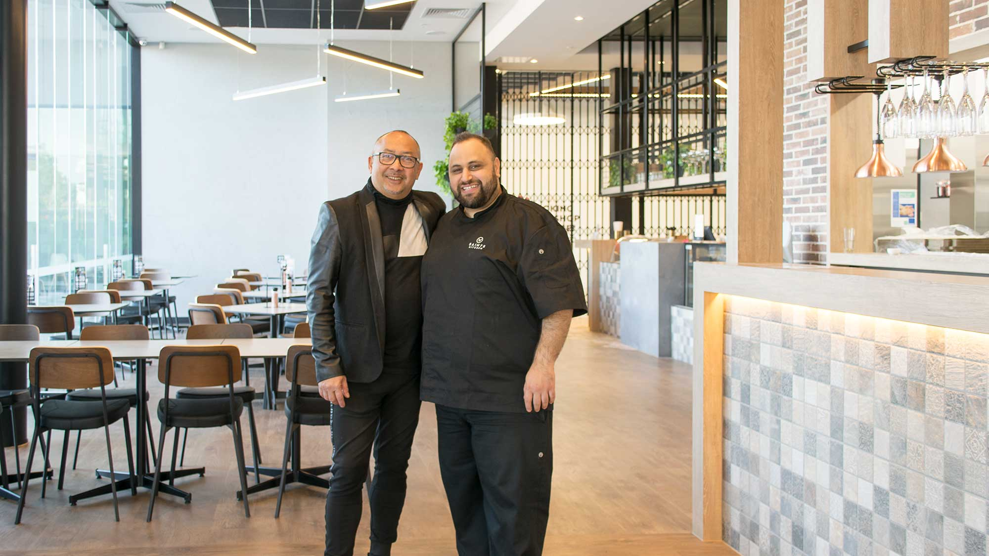 Harold Lens of Concept Collections and Danny Haidar of Saints Kitchen