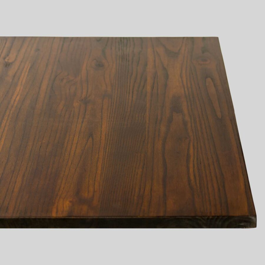 Elm Wood Cafe Table Tops - 800 x 800 x 25mm - Walnut