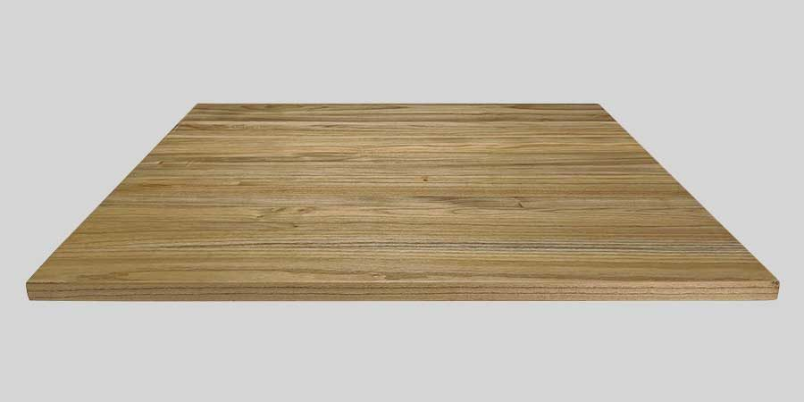 Elm Wood Cafe Table Tops - 800 x 800 x 25mm