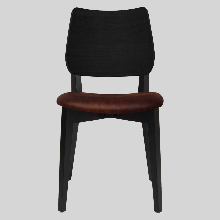 Kokoda Side Chair - Black with Eastwood Bison Seat