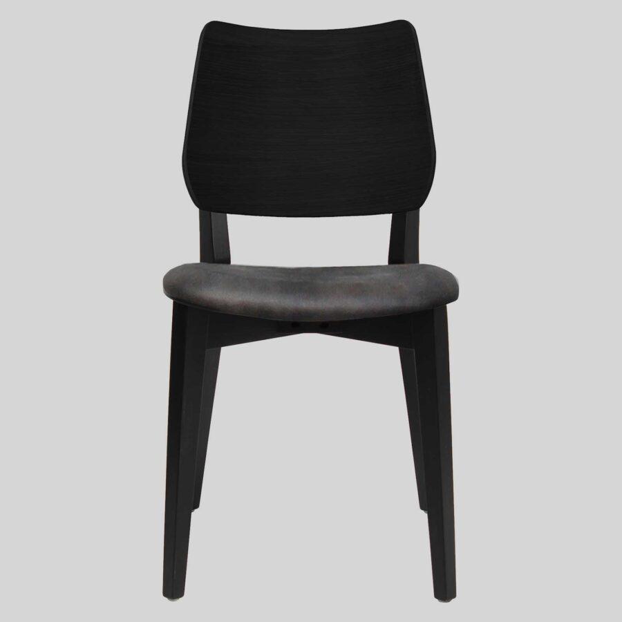 Kokoda Side Chair - Black with Eastwood Slate Seat