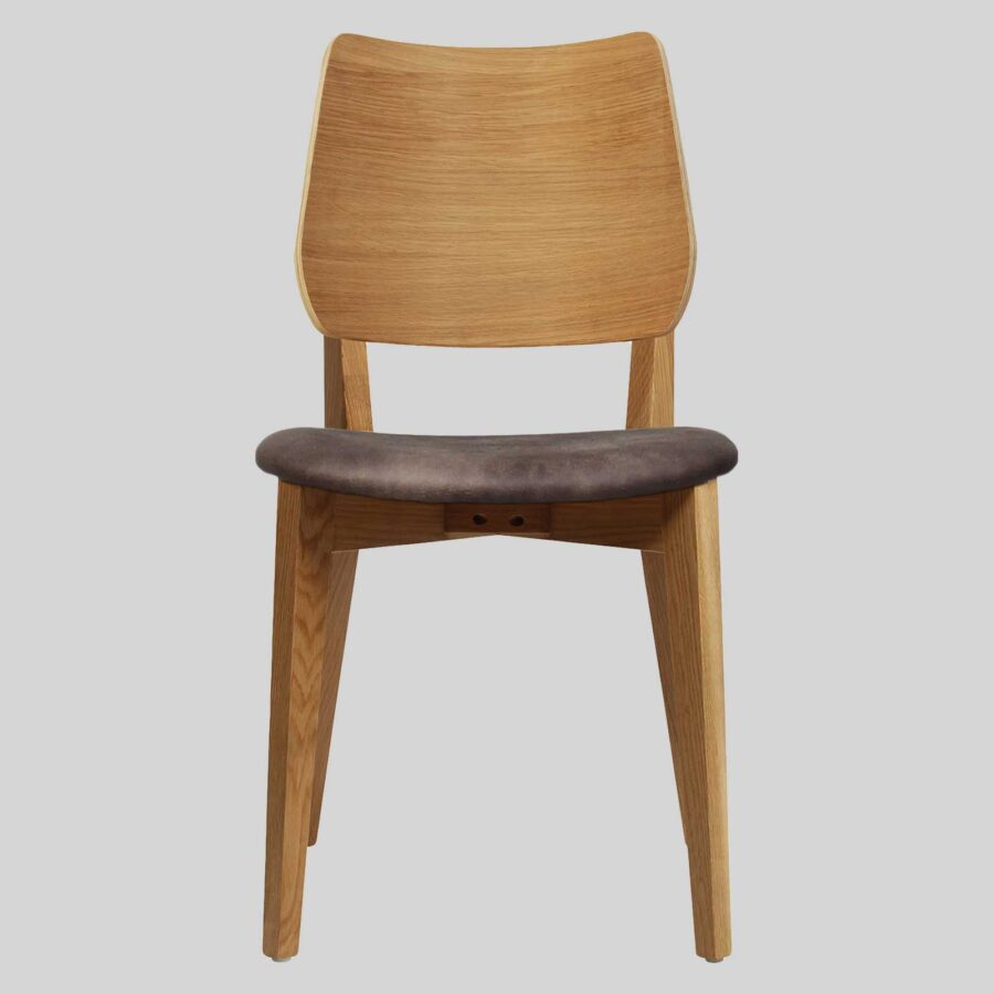 Kokoda Side Chair - Light Oak with Eastwood Donkey Seat