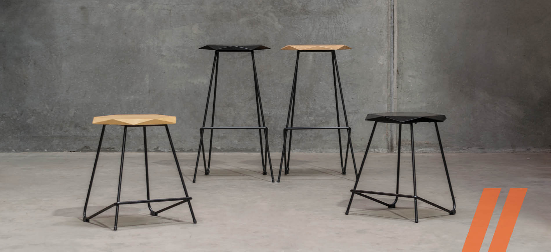 Weston Bar Stools and Low Stools
