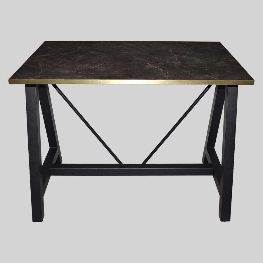 A-Frame (S) Bar Base - Black with Melamine Top