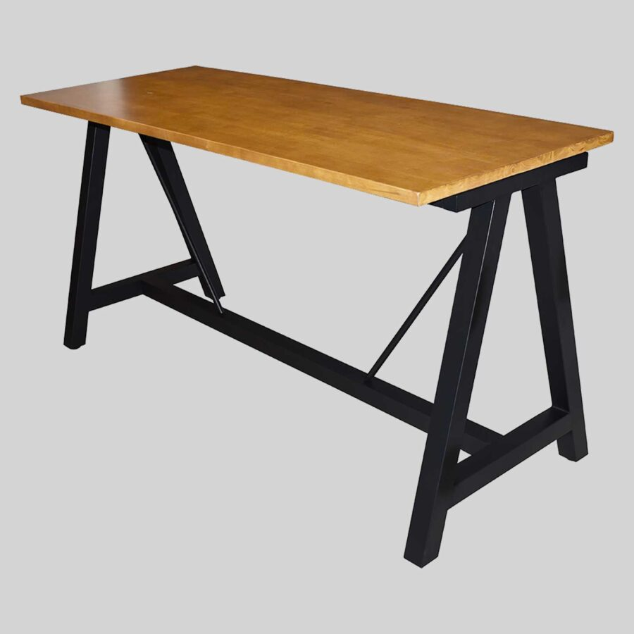 A-Frame (M) Counter Base - Black with Timber Top