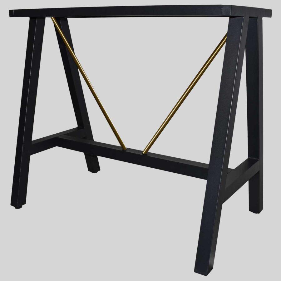 A-Frame 1200 Bar Base - Black with Brass