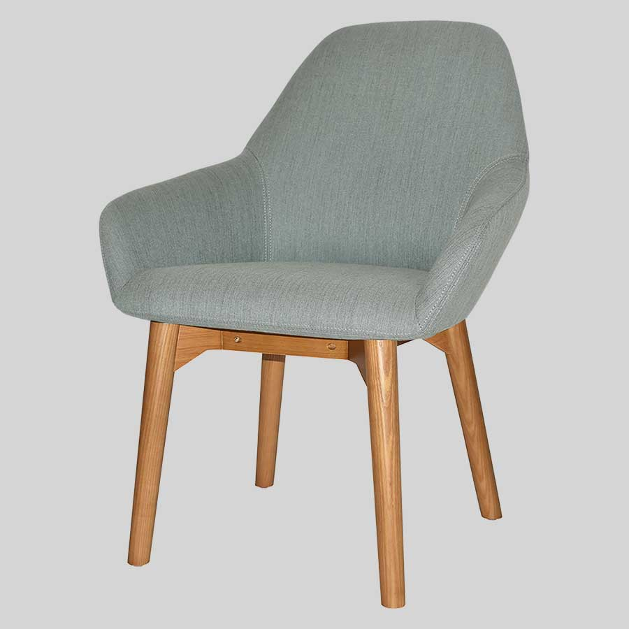Monte Tub Chair with timber leg