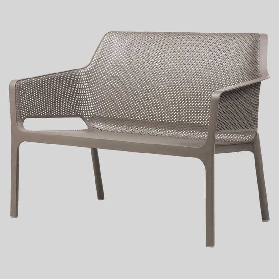 Net Outdoor Lounge Bench by Nardi - Taupe