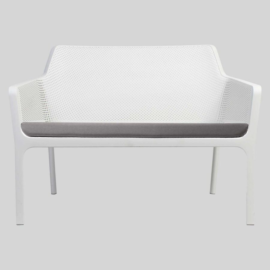 Net Outdoor Lounge Bench by Nardi - White