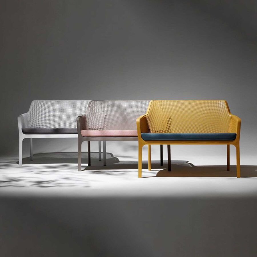 Net Outdoor Lounge Bench by Nardi