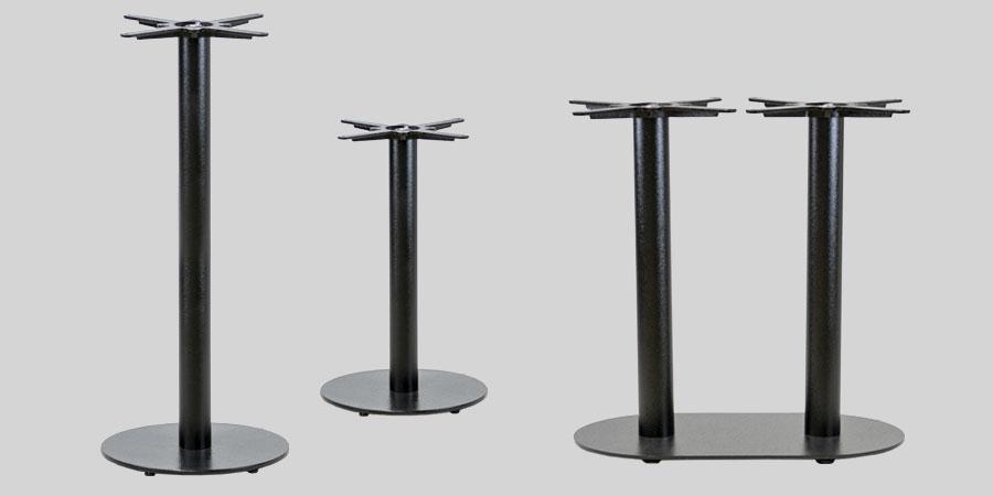 Carlton Cast Iron Restaurant Table Base - Black