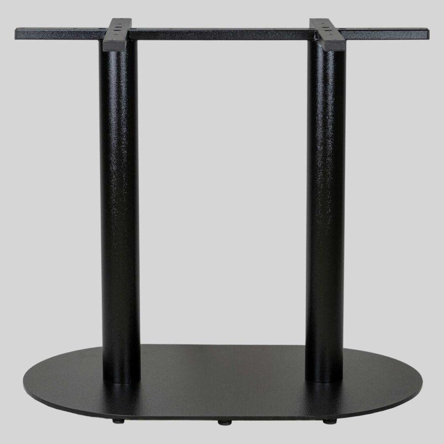 Carlton Twin Cast Iron Restaurant Table Base - Black