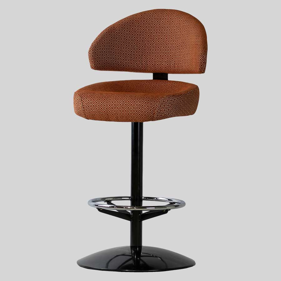 Canberra Black Dome Gaming Stool - Warwick Alanis: Terracotta