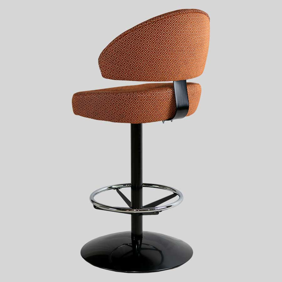 Canberra Black Dome Gaming Stool