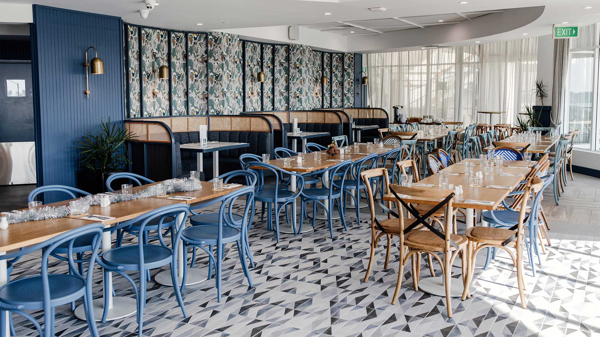 Monique Chairs & Rubberwood Timber Tables | Hotel Pacific, Southport QLD